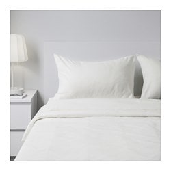 SPERGEL sheet set, white Thread count: 95 /inch² Surface density: 0 oz/sq ft Thread count: 95 /inch² Surface density: 150 g/m²