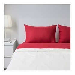 SPERGEL sheet set, red Thread count: 95 /inch² Surface density: 0 oz/sq ft Thread count: 95 /inch² Surface density: 150 g/m²