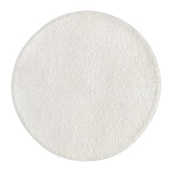 BADAREN bath mat, white Diameter: 55 cm Area: 0.28 m² Surface density: 950 g/m²