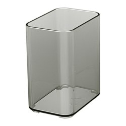 BROGRUND Becher, transparent grau
