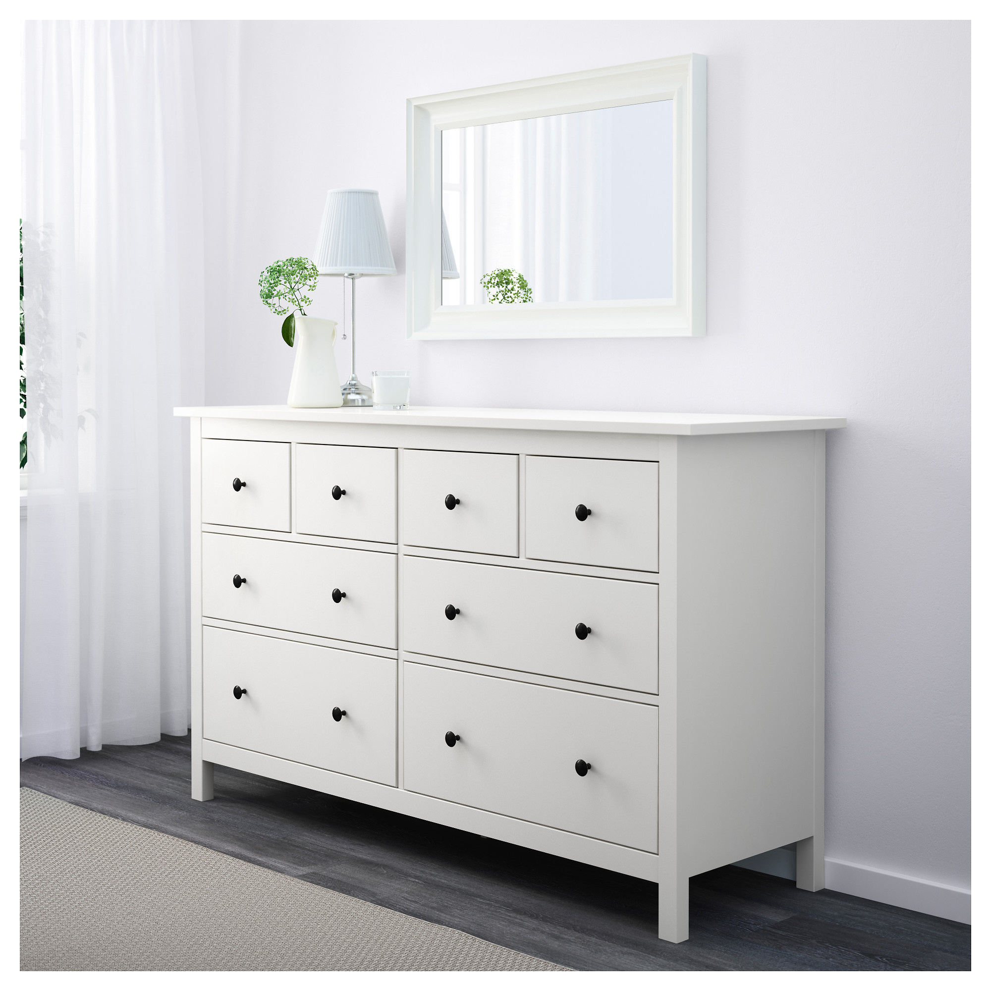 Hemnes 8 drawer dresser white 63x37 3 4 ikea