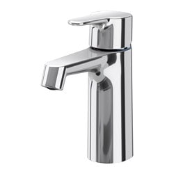 BROGRUND wash-basin mixer tap with strainer, chrome-plated Height: 17 cm