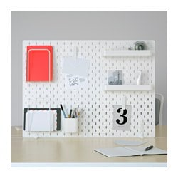 SKÅDIS, Pegboard combination, white