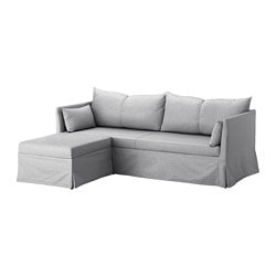 SANDBACKEN cover for 3-seat corner sectional, Frillestad light gray