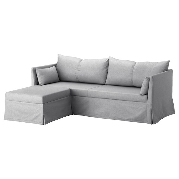 Ikea SANDBACKEN Corner sofa-bed, Frillestad light gray