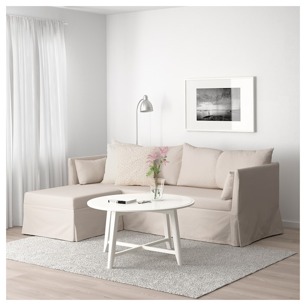 Letto Alto Ikea.Sleeper Sectional 3 Seat Sandbacken Lofallet Beige