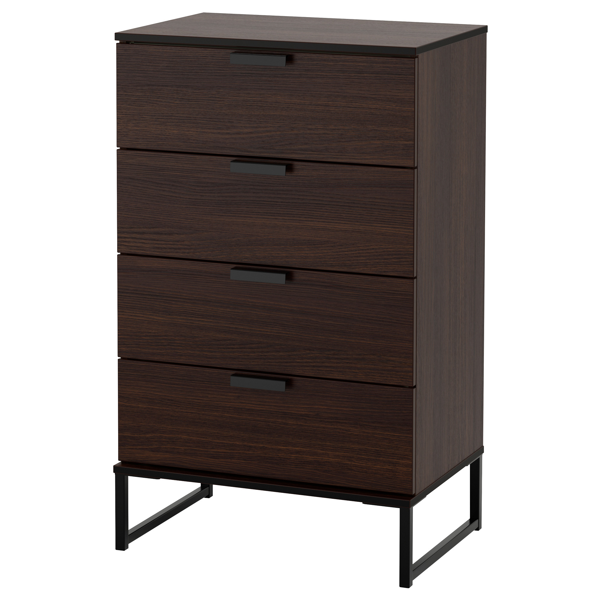premium selection 189c0 1566f 4-drawer chest TRYSIL dark brown