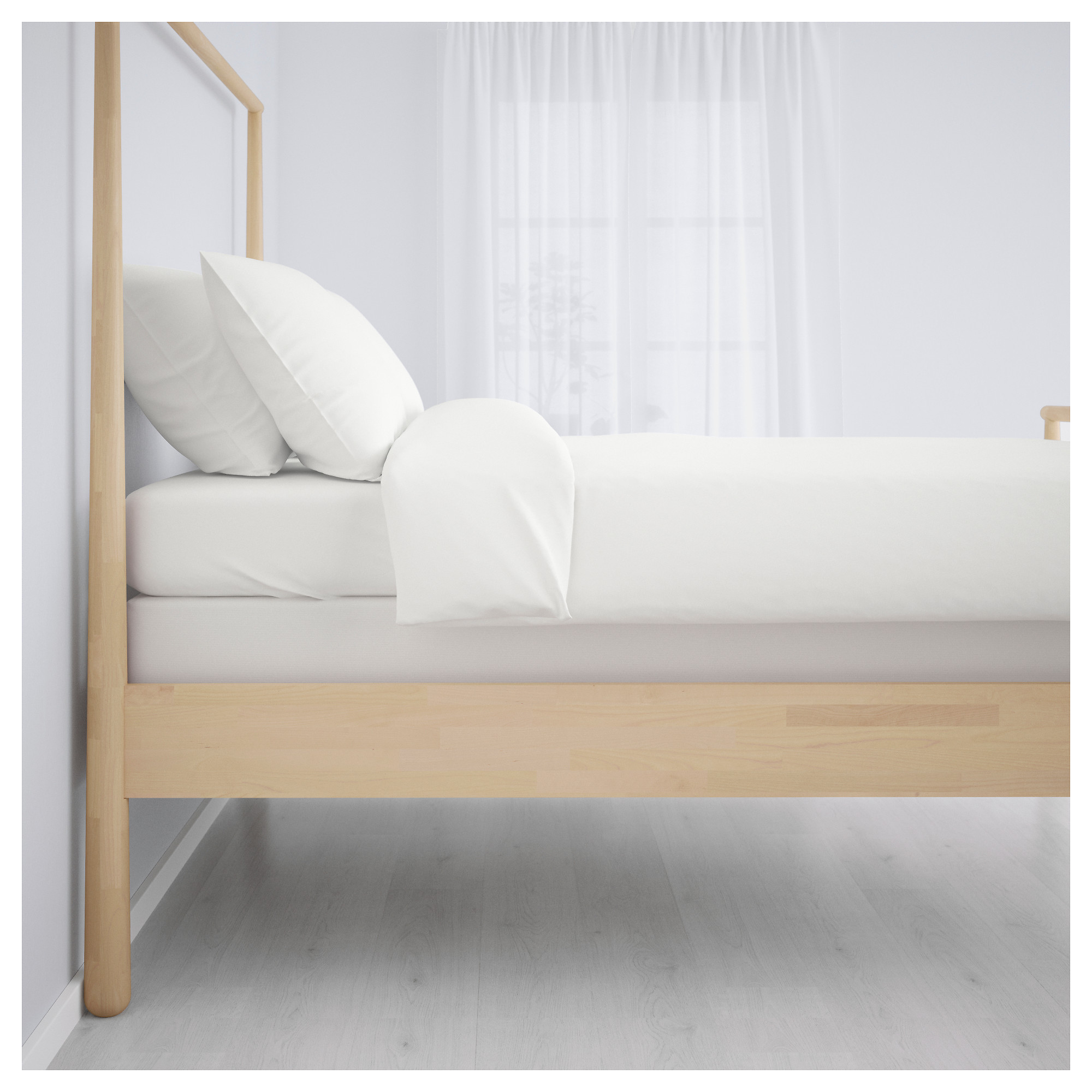 GJ–RA Bed frame Queen Lönset slatted bed base IKEA