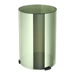 NJUTBAR lantern for block candle, green, gold-colour