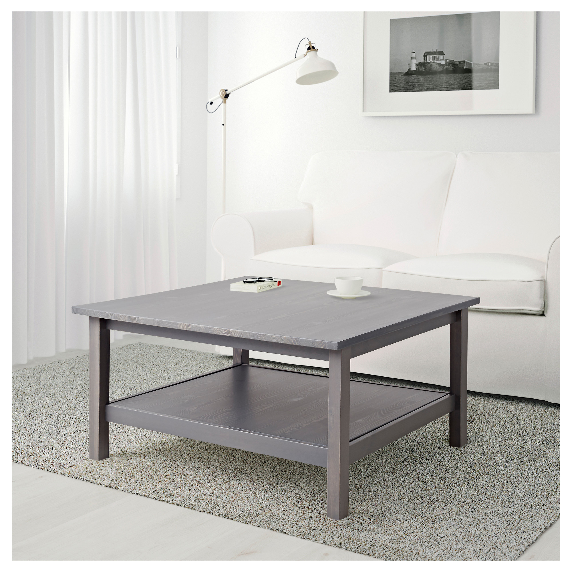 hemnes coffee table dark gray stained ikea