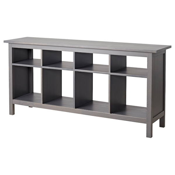 Console table HEMNES dark gray gray stained
