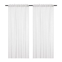 GJERTRUD sheer curtains, 1 pair, white