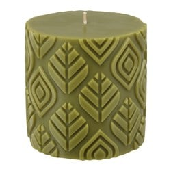 "UTREDD scented block candle, green, Forest Height: 4 "" Diameter: 4 "" Burning time: 25 hr Height: 10 cm Diameter: 10 cm Burning time: 25 hr"
