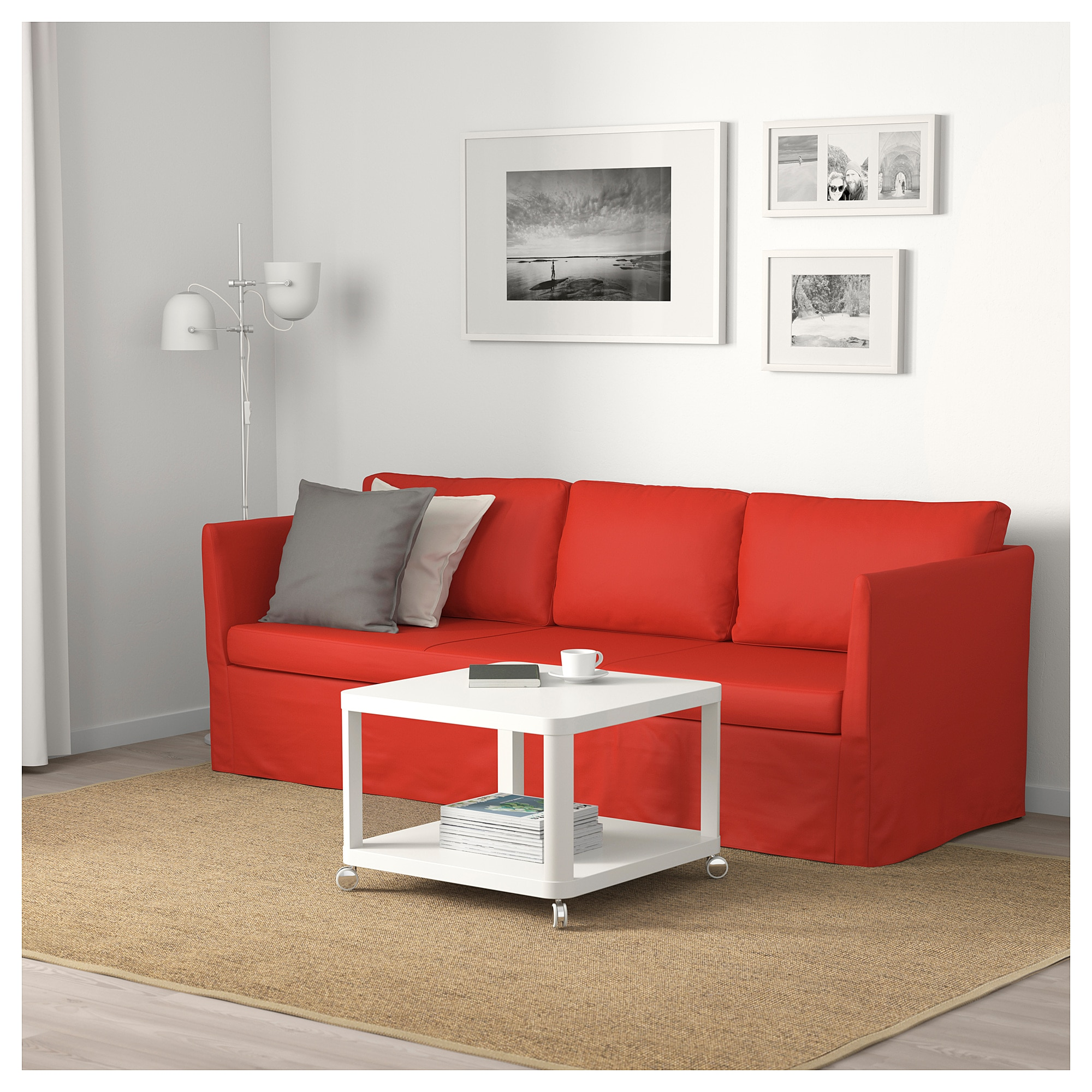 BR…THULT Sofa Vissle red orange IKEA