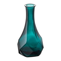 "GENERÖST vase, blue Height: 7 "" Height: 18 cm"