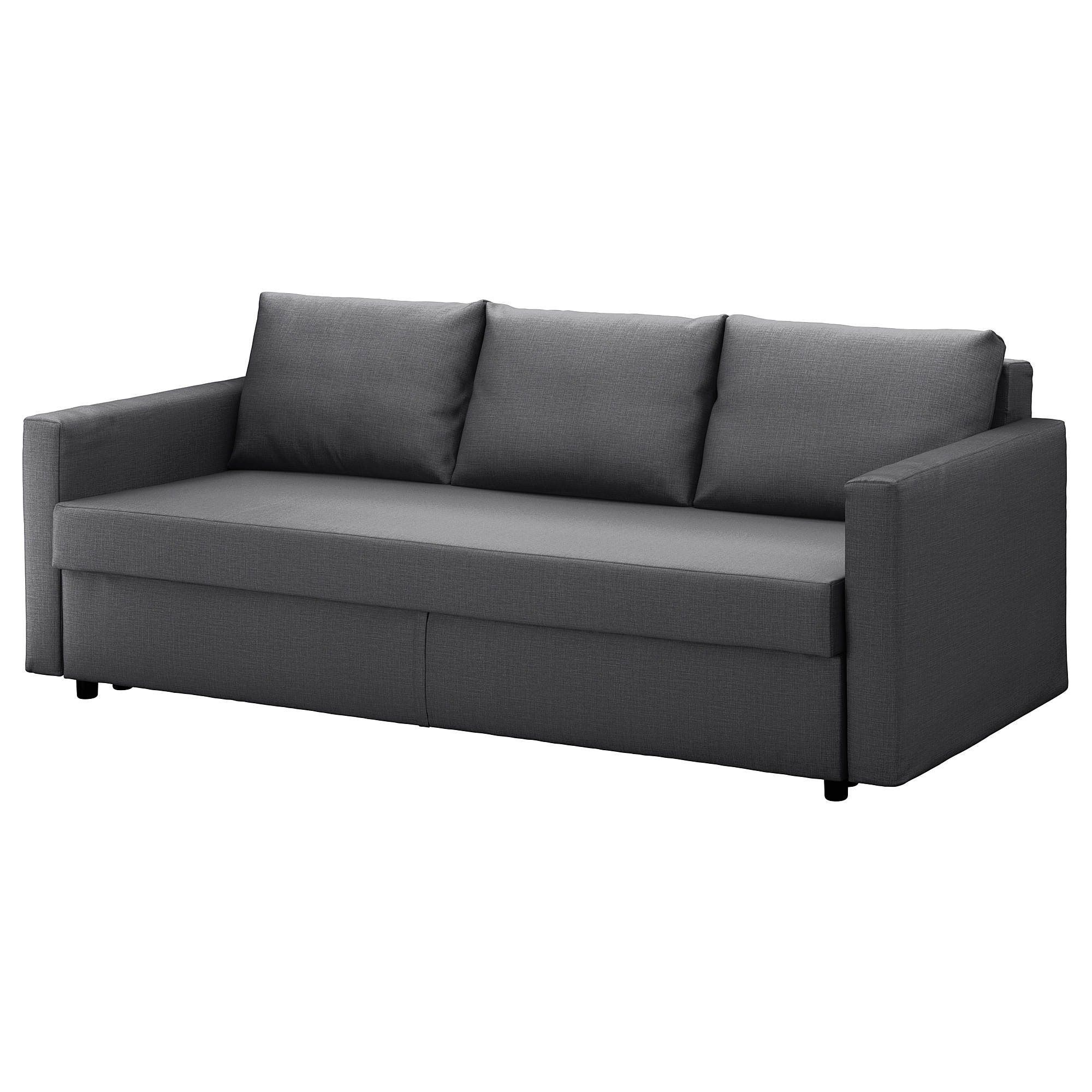 best loved cec7b f1802 Three-seat sofa-bed FRIHETEN Skiftebo dark grey