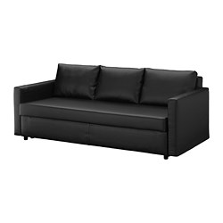 FRIHETEN, Three-seat sofa-bed, Bomstad black