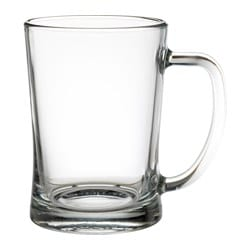 MJÖD beer tankard, clear glass
