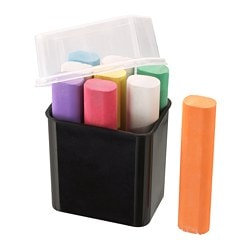 MÅLA chalks, assorted colours Length: 8.5 cm Package quantity: 9 pack