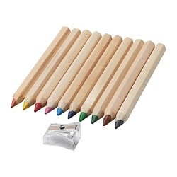 MÅLA coloured pencil Length: 12 cm Thickness: 1 cm Package quantity: 10 pack