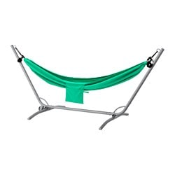 GÅRÖ / RISÖ hammock with stand, grey, green Max. load: 120 kg