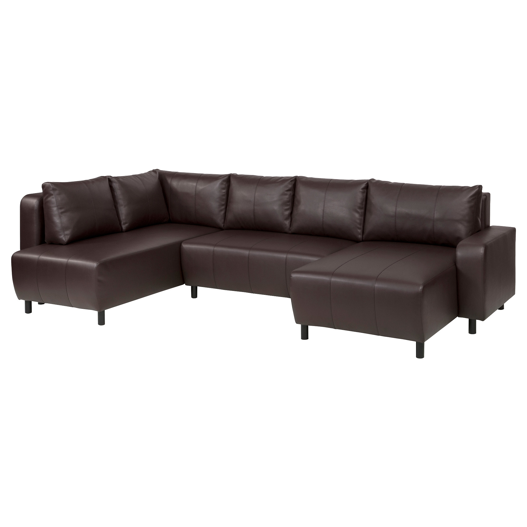 Faux leather sectional sofas IKEA