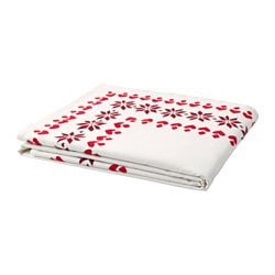 VINTER 2017 tablecloth, red, white