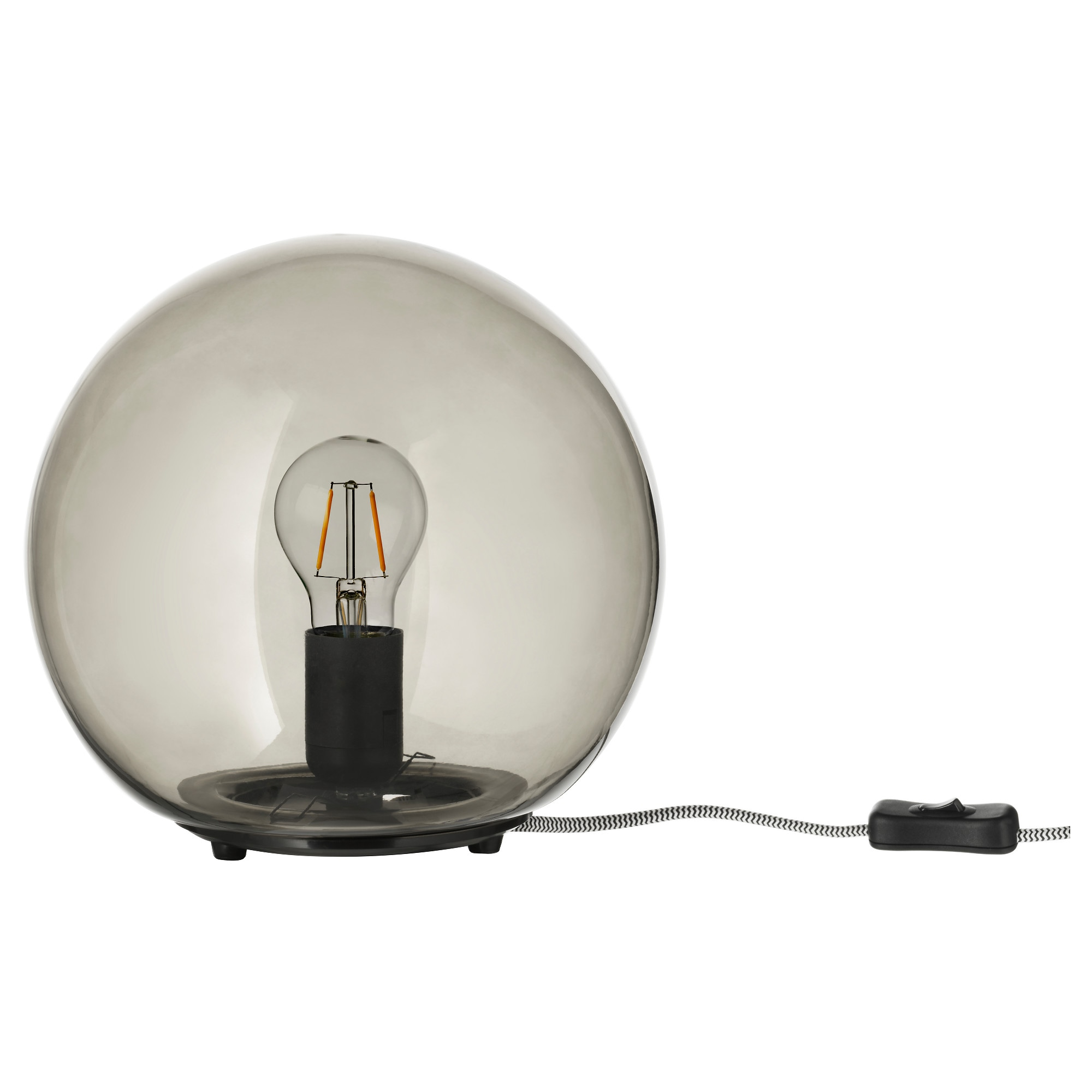 Table lamps ikea fado table lamp with led bulb gray height 9 diameter 10 geotapseo Choice Image