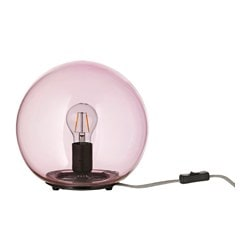 "FADO table lamp, pink Max.: 75 W Height: 9 "" Diameter: 10 "" Max.: 75 W Height: 24 cm Diameter: 25 cm"