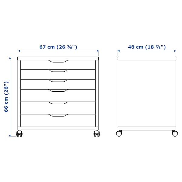 IKEA ALEX Drawer unit on casters