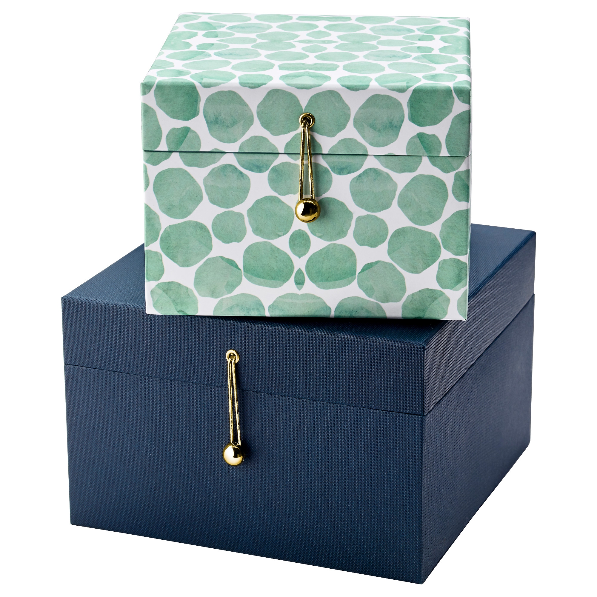 Ribbons wrapping paper gift bags ikea eklog gift box set of 2 dark blue green negle Image collections