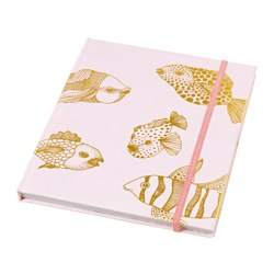 EKLOG note-book, pink, gold-colour Length: 20 cm Width: 16 cm Thickness: 11 mm