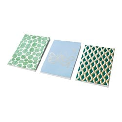 EKLOG note-book, assorted patterns Length: 21 cm Width: 14.5 cm Thickness: 5 cm