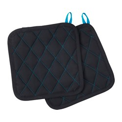 "LACKTICKA pot holder, black Length: 9 "" Width: 9 "" Package quantity: 2 pack Length: 22 cm Width: 22 cm Package quantity: 2 pack"