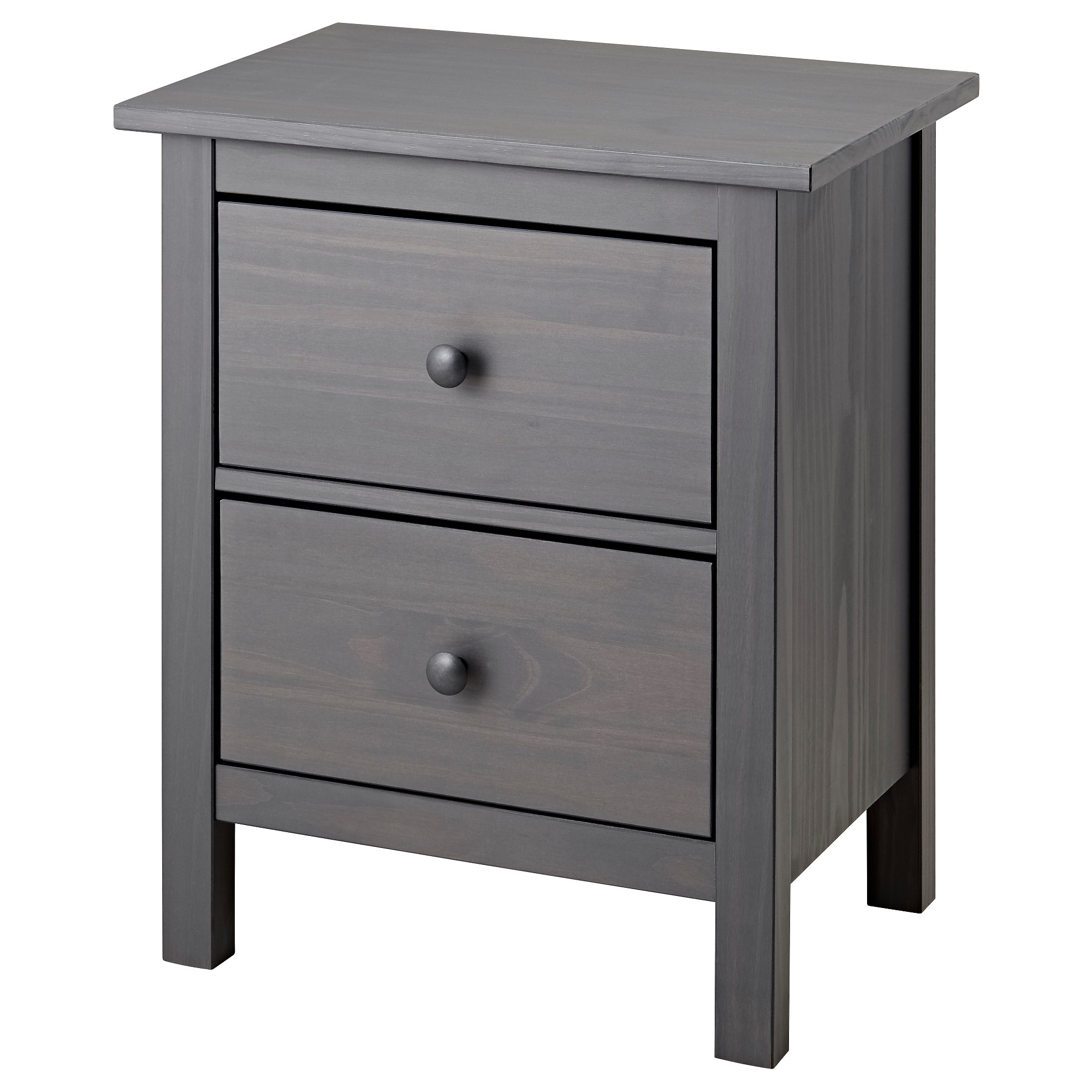 purchase cheap fc097 87db0 2-drawer chest HEMNES gray dark gray stained