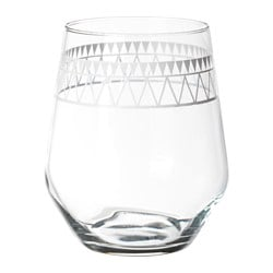 VINTER 2017 glass, patterned, light grey Height: 11 cm Volume: 45 cl