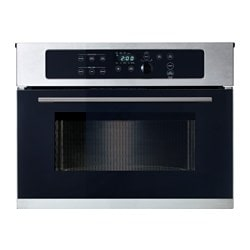 "NUTID microwave oven, Stainless steel Width: 23 3/8 "" Min. width: 23 3/8 "" Max. width: 30 "" Width: 59.5 cm Min. width: 59.5 cm Max. width: 76.2 cm"