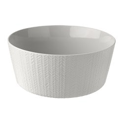 VINTER 2017 serving bowl, fishbone pattern, light grey Height: 12 cm Diameter: 28 cm