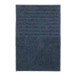 VOXSJÖN bath mat, dark blue