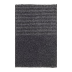 VOXSJÖN bath mat, dark grey