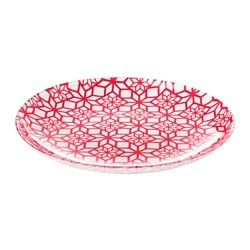 VINTER 2017 side plate, patterned red Diameter: 20 cm