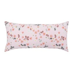 BLOMBUKETT cushion, pink, floral patterned Length: 30 cm Width: 60 cm Filling weight: 280 g