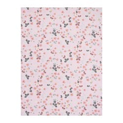 BLOMBUKETT fabric, pink, floral patterned Weight.: 235 g/m² Width: 150 cm Area: 1.50 m²
