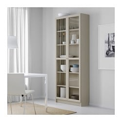 Charmant BILLY Bookcase With Glass Doors, Beige