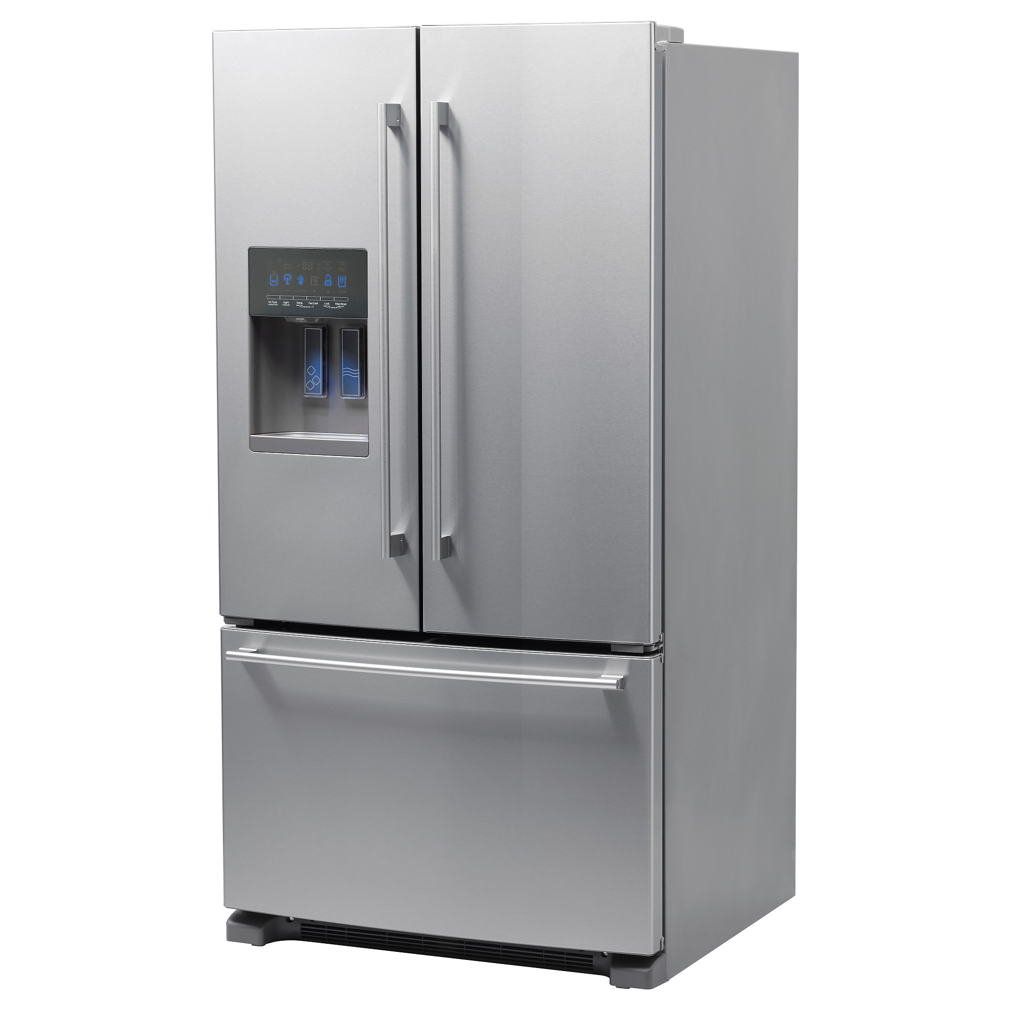 Side by side refrigerator 30 inch width - Nutid French Door Refrigerator Stainless Steel Width 35 5 8 Depth