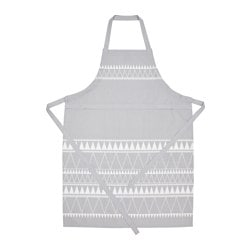 "VINTER 2017 apron, gray, white Length: 38 "" Length: 97 cm"