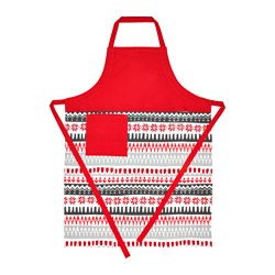"VINTER 2017 apron, red, white Length: 38 "" Length: 97 cm"