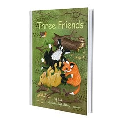 SKOGSLIV book, Three friends Pages: 32 pieces Width: 22.2 cm Height: 31.4 cm