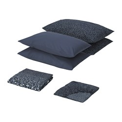 SMÖRBOLL bedlinen set, grey Filling weight: 810 g Total weight: 1780 g