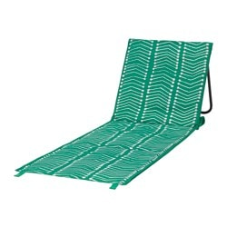 "SOMMAR 2017 chaise, foldable green Length: 41 3/8 "" Width: 20 1/8 "" Max. load: 243 lb Length: 105 cm Width: 51 cm Max. load: 110 kg"
